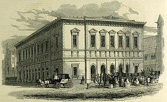 Philharmonic Hall, Liverpool - The first hall, 1849