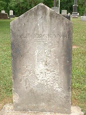 Oliver Granger - Headstone at Oliver Granger's grave in Kirtland, Ohio