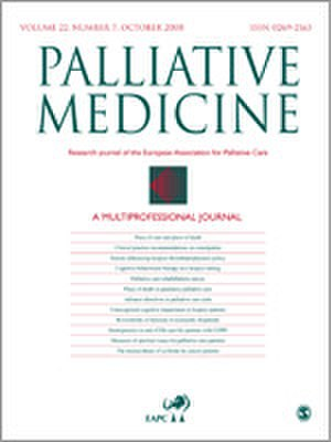 Palliative Medicine (journal) - Image: Palliative Medicine