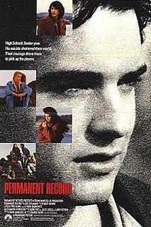 <i>Permanent Record</i> (film) 1988 film by Marisa Silver
