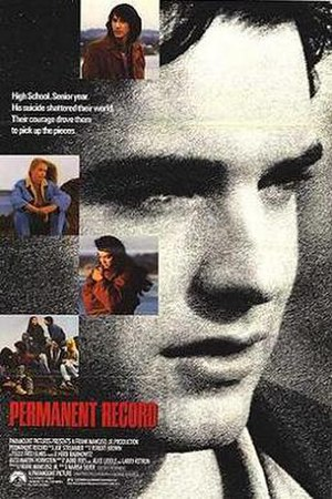 Permanent Record (film) - Theatrical release poster
