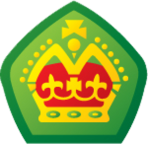 Venturer Scouts (Australia) - Queen's Scout Badge as worn by recipients of the Award