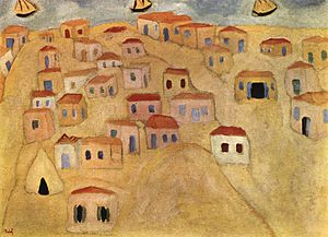 Reuven Rubin - Image: Reuven Rubin The Beginnings of Tel Aviv