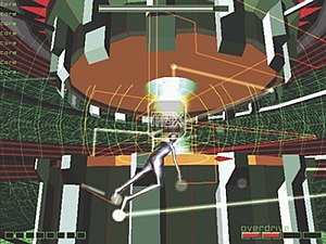 Rez (video game) - Rez in-game screenshot on the Sega Dreamcast