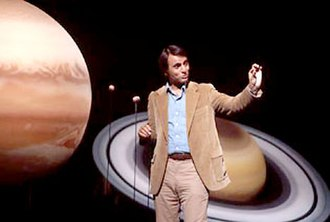 Astronomer - Carl Sagan on the set of Cosmos