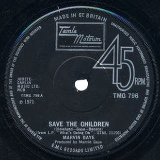 Save the Children (song) - Image: Save the Children label