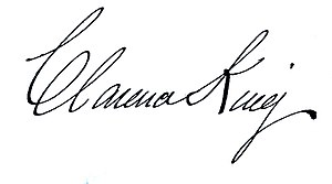 Clarence King - Image: Signature of Clarence King
