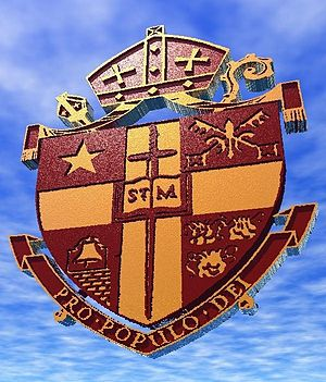 Cathedral Church of Saint Matthew (Dallas) - The shield of Saint Matthew's Cathedral