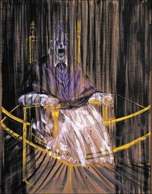 Portrait of Innocent X - Study after Velázquez's Portrait of Pope Innocent X, Francis Bacon, 1953