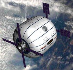 Sundancer - Image: Sundancer in orbit