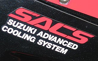 Suzuki Advanced Cooling System - Suzuki Advanced Cooling System Badge from a 1991 GSXR 1100