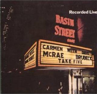 <i>Take Five Live</i> 1962 live album by Carmen McRae