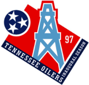 History of the Tennessee Titans - Tennessee Oilers inaugural season logo