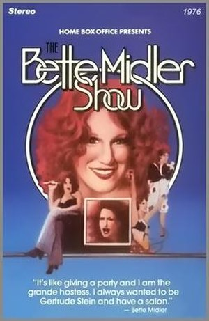 The Bette Midler Show - HBO Video Cover from RCA SelectaVision CED disc