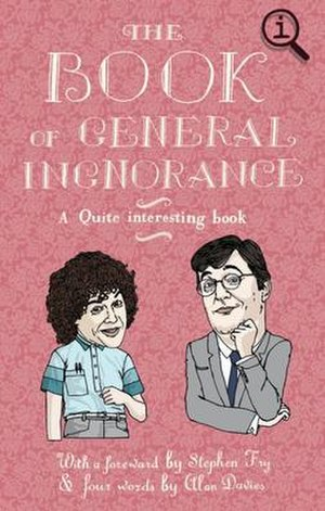 The Book of General Ignorance - An earlier version of the cover, playing on the idea of ignorance with a typo