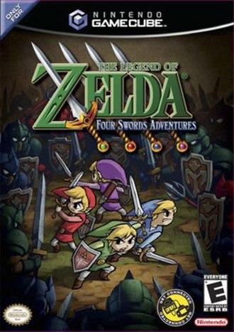 The Legend of Zelda: Four Swords Adventures - North American cover art