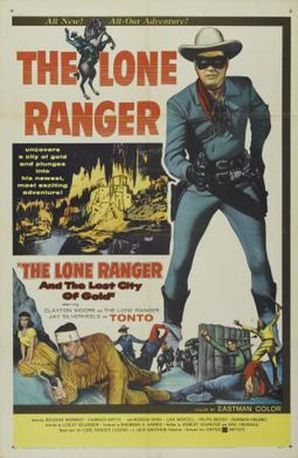 The Lone Ranger and the Lost City of Gold - Theatrical release poster