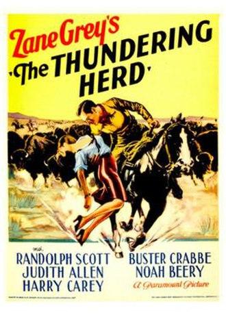 The Thundering Herd (1933 film) - Image: The Thundering Herd 1933 Poster