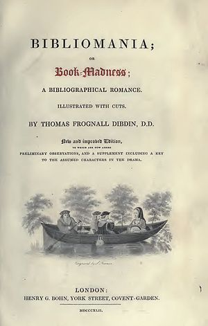 Bibliomania (book) - Title page to the 1842 edition.