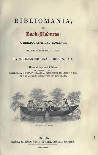 Bibliomania (book) - Title page to the 1842 edition.
