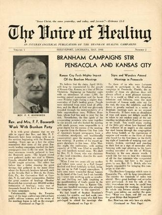Healing Revival - April 1948 cover of Voice of Healing magazine