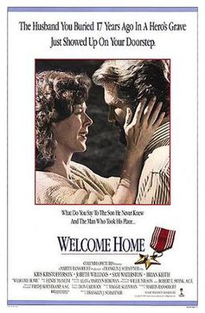 Welcome Home (1989 film) - Promotional film poster