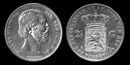 "The obverse Dutch inscription reads WILLEM III KONING DER NED[ERLANDEN] G[ROOT] H[ERTOG] V[AN] L[UXEMBURG], meaning ""William III, King of the Netherlands, Grand Duke of Luxembourg"". Wilhelm III Coin.jpg"