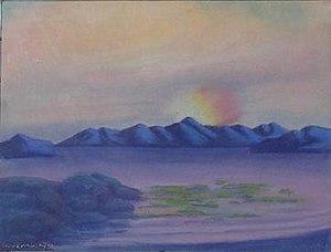 Robert Bruce Inverarity - Aurora Sky, Robert Bruce Inverarity, pastel, 1931.