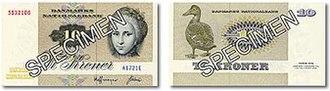 Banknotes of Denmark, 1972 series - 10 kroner bill