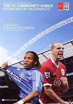 2007 FA Community Shield - Match programme cover