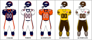 2009 Denver Broncos season - Image: AFCW Uniform DEN 2009