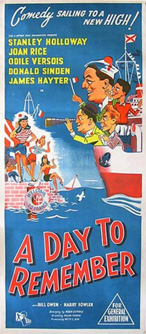 A Day to Remember (1953 film) - Theatrical release poster