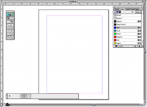 PageMaker 7.0 running on Mac OS 9