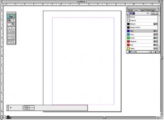 Adobe PageMaker - Image: Adobe Page Maker 7.0 on Mac OS screenshot