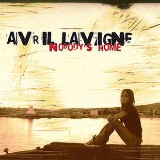 Nobody's Home (Avril Lavigne song) - Image: Avril Lavigne Nobody's Home single cover