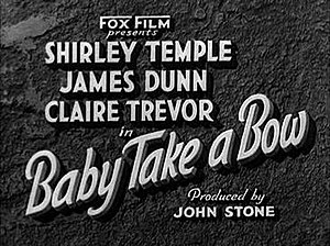 Baby Take a Bow - Title card