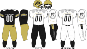 2010 Colorado Buffaloes football team - Image: Big 12 Uniform CU 2010