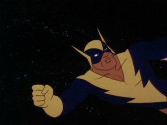 Black Vulcan - Black Vulcan as he appeared in Hanna-Barbera's Super Friends TV series in the 1970s and '80s