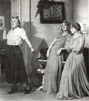 Blithe Spirit (play) - Margaret Rutherford (Madame Arcati), Kay Hammond (Elvira) and Fay Compton (Ruth), 1941