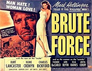 Brute Force (1947 film) - Theatrical release lobby card