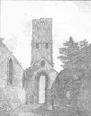 Buttevant Franciscan Friary - Buttevant Friary Interior, Smith's History of Cork, 1750