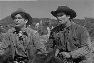 Cheyenne (TV series) - L. Q. Jones (Smitty) and Clint Walker (Cheyenne)