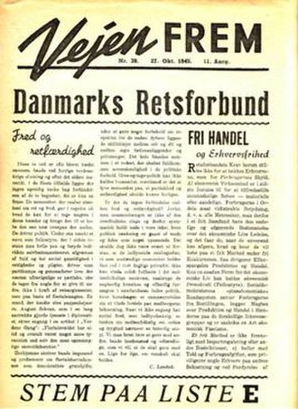 Justice Party of Denmark - Vejen Frem from 1945