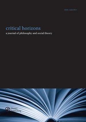 Critical Horizons - Image: Critical Horizons Journal (Cover)
