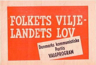 Communist Party of Denmark - 1945 DKP election programme 'Will of the People - the Law of the Country'