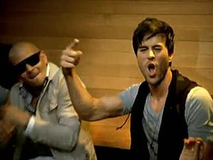 I Like It (Enrique Iglesias song) - Enrique Iglesias and Pitbull dancing in the music video.