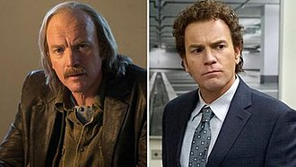 Fargo (season 3) - Ewan McGregor as Ray (left) and Emmit Stussy (right), two of the main characters