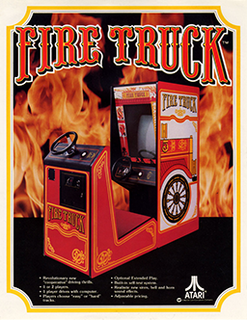 <i>Fire Truck</i> (video game) 1978 video game