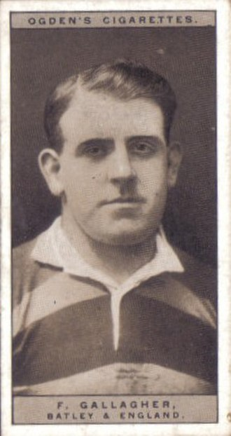 Frank Gallagher (rugby league) - Ogden's Cigarette card featuring Frank Gallagher