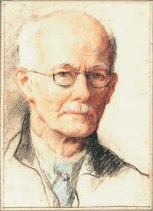 Frank Moss Bennett - Frank Moss Bennett self portrait. Chalk. n.d.